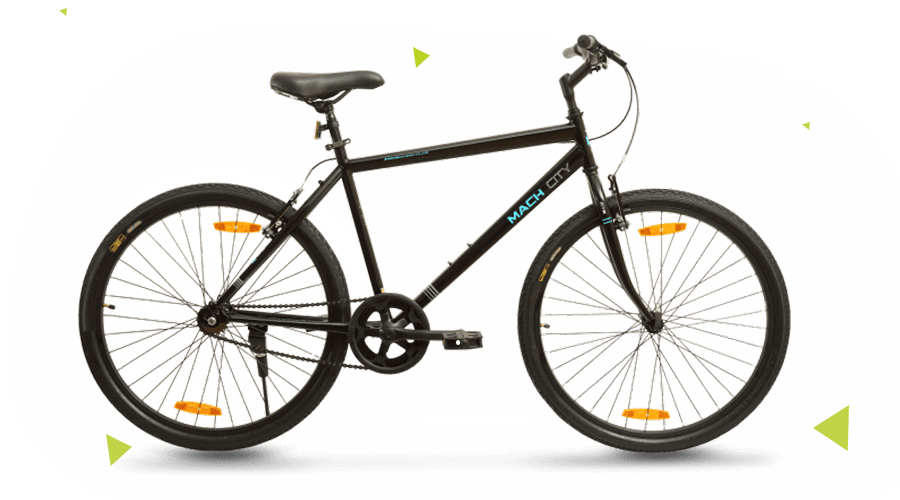 Mach City iBike Single Speed Medium Matt Black