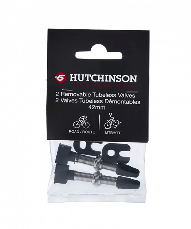 Hutchinson Tubeless Valves Tires&Tubes Accessories Black