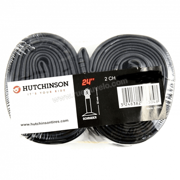 Hutchinson Tubes Set Of 2 Type 2 Tubes-Schrader Valves- Black 26X1.70-2.35