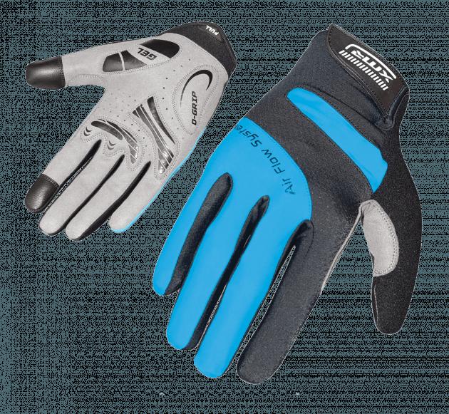 XMR Air Flow Gell Gloves Black/Blue X-Large