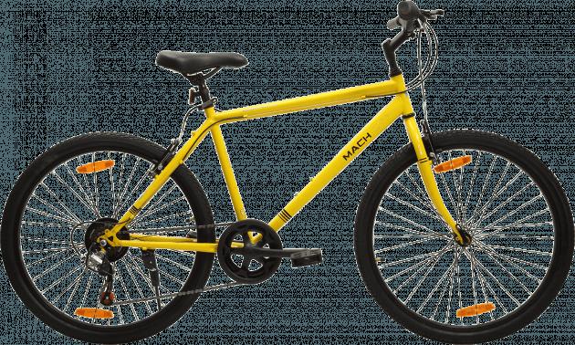 Mach City iBike 7 Speed Medium Canary Yellow