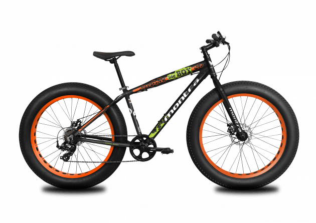 Montra Bigboy 2019 26T Charcoal Black with Tangerine Orange Graphics