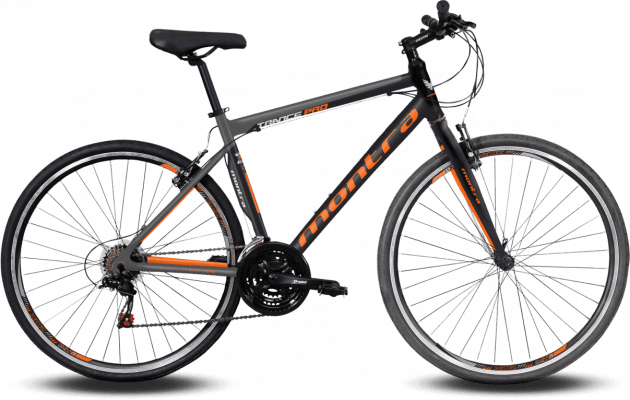 Montra Trance Pro 2019 Medium Carbon Black with Graphite Grey/Neon Orange Graphics
