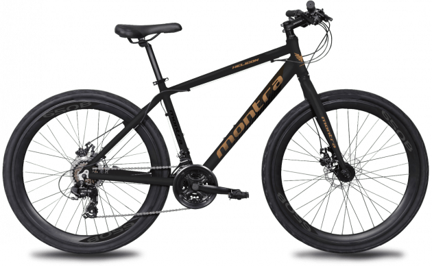 Montra Helicon Medium Carbon Black with Atomic Copper Graphics
