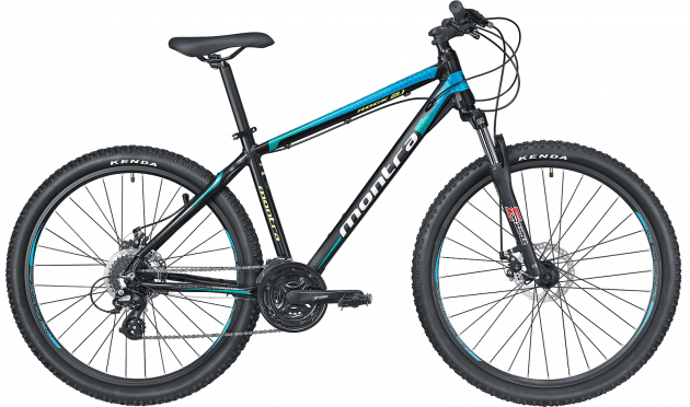 Montra Rock 2.1 2019 27.5T Large Carbon Black with Blue Ombre Graphics